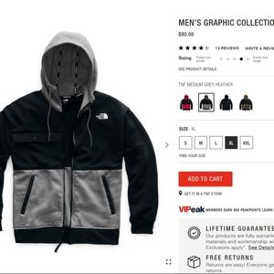 The North Face Mens Graphic Collection Zip Hoodie